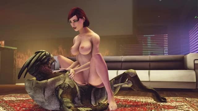 Rule 34 commander shepard, femshep, garrus vakarian, mass effect