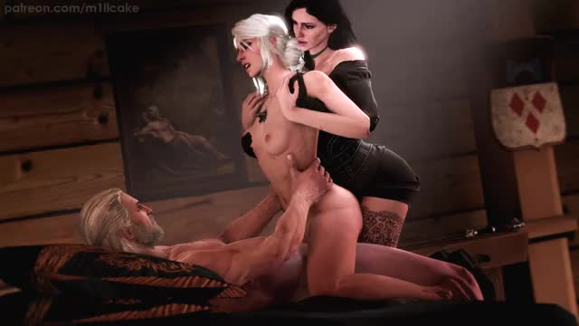 Rule 34 ciri, cirilla, geralt, the witcher, yennefer, yennefer of vengerberg